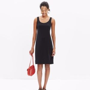Madewell Silk Lookout Bow-Back Dress